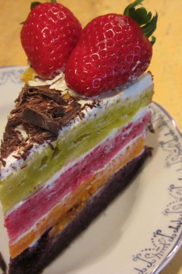Торта Дъга цветове