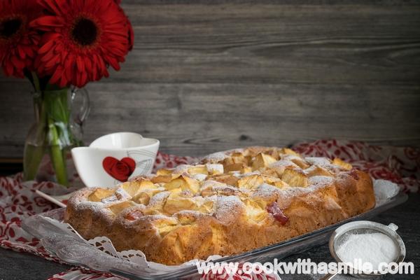 рецепта за бърз и лесен ябълков сладкиш
