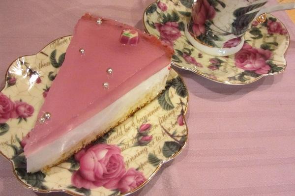 торта желе виолетки