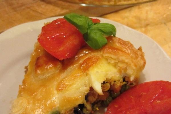 Пай с пилешко в бутер тесто рецепта