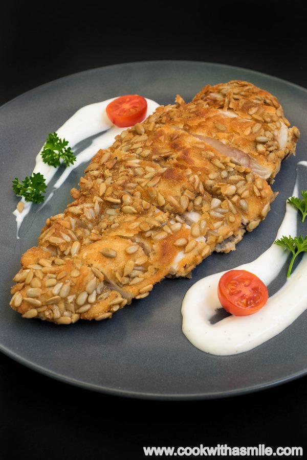 пилешки шницел панирано филе със слънчоглед
