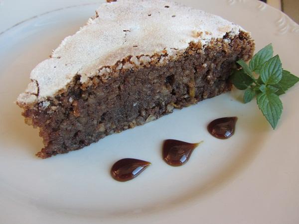 Торта Капрезе шоколад бадеми лимонова кора