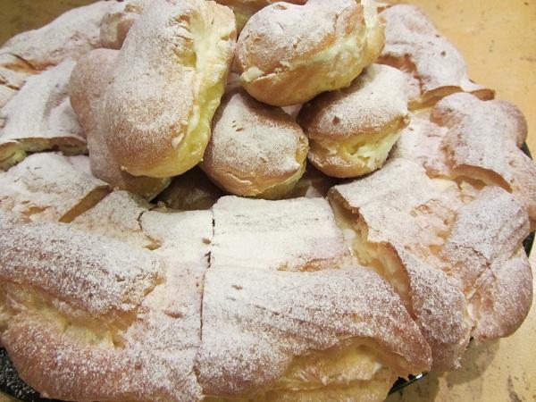 Торта Париж Брест ванилов крем еклерова торта рецепта