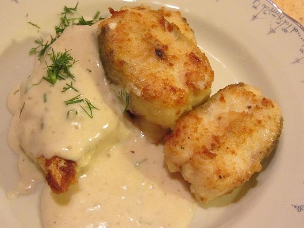 рецепта бяла риба със сметанов сос и вино