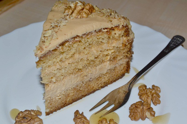 домашна орехова торта дулсе де лече блат с мед