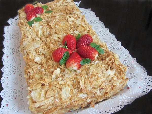 Торта-Наполеон-бутер-тесто