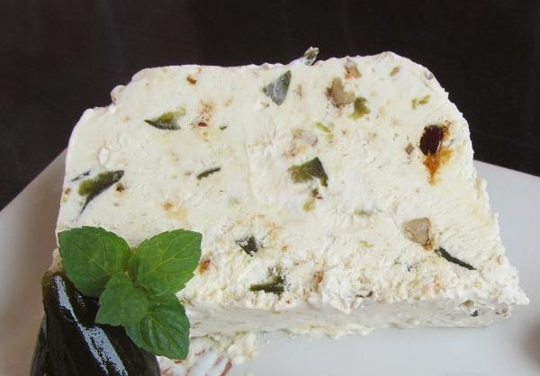 домашен сладолед нуга сладко от зелени смокини