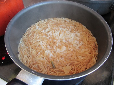 рецепта за пържено фиде с ориз