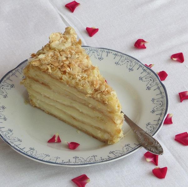 торта наполеон домашен крем Ванилия