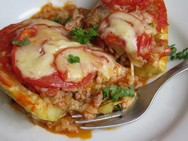 тиквички с кайма и ориз на фурна рецепта