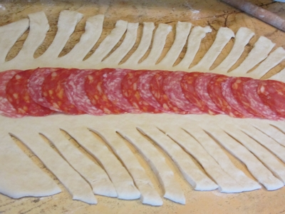 солено руло с плънка колбас