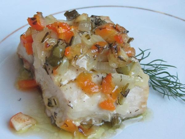 бяла риба на фурна