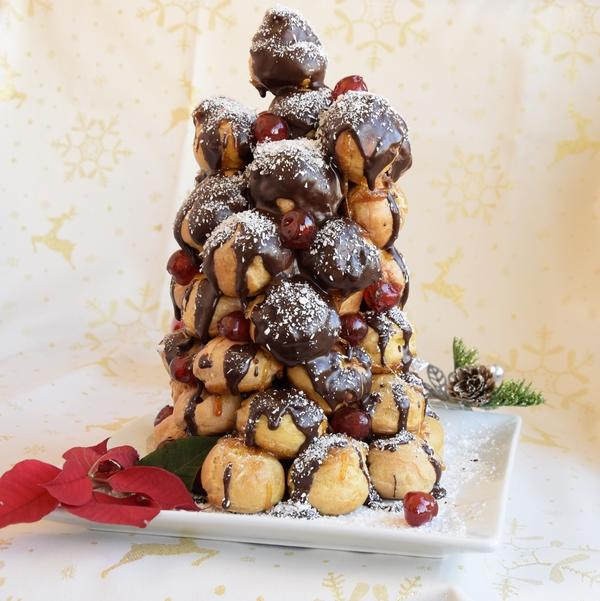 идеи за нова година шоколадов крокембуш еклери с ванилов крем