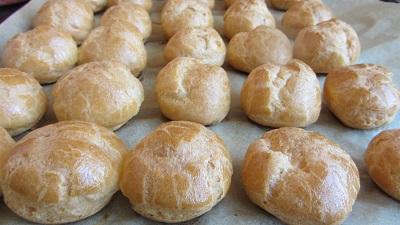 рецепта за еклери профитероли парено тесто