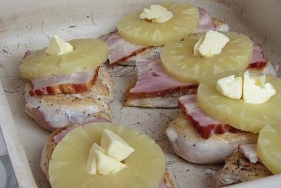пиле с ананас рецепта