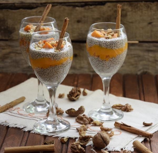 рецепта пудинг с чия тиква и манго