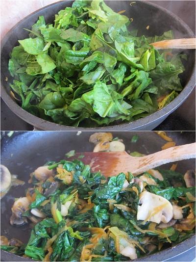 рецепта за спанак с яйца и сос Бешамел