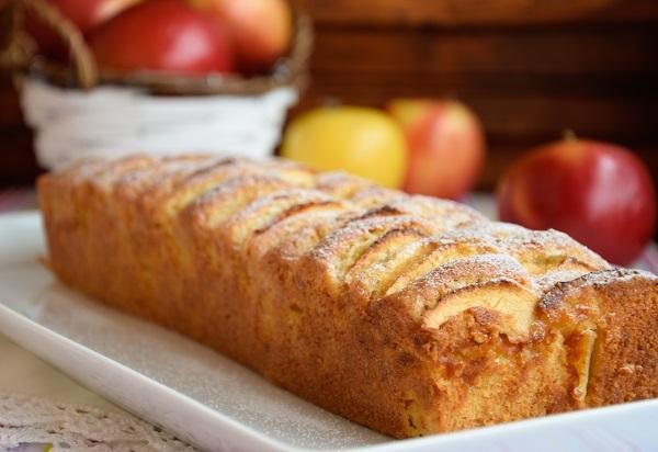 лесен ябълков кекс маслен кекс с ябълки