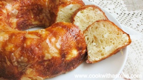 баница със сирене в кексова форма