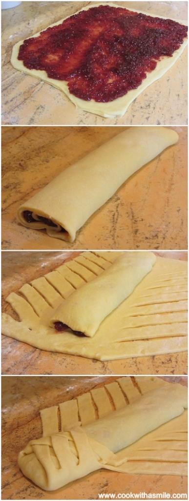 козуначено руло с мармалад рецепта стъпка по стъпка