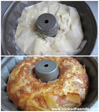 баница в кексова форма