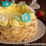 козуначена торта с крем