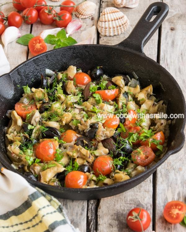 рецепта-рапани-с-маслини-и-домати