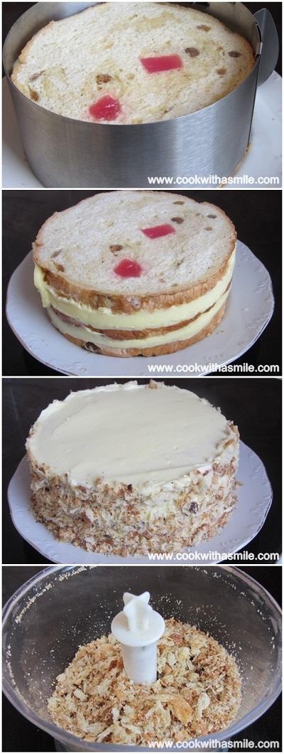 козуначена торта с ванилов крем стъпка по стъпка