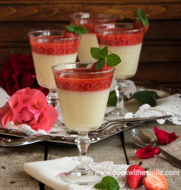 бърз млечен крем с ягоди и мента рецепта