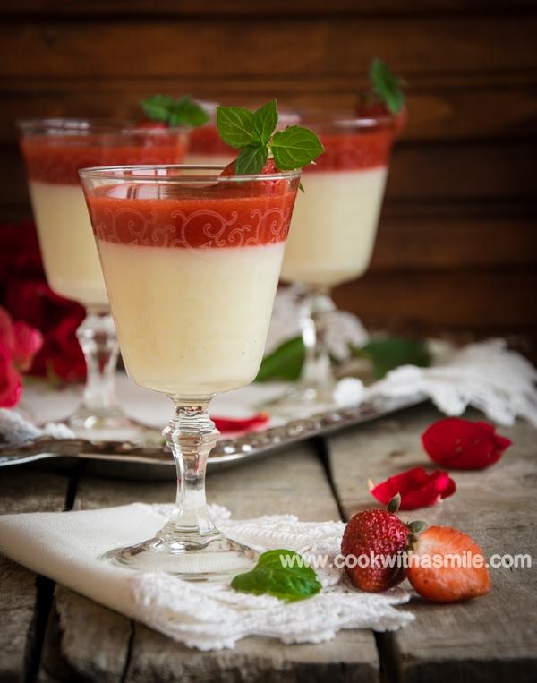 рецепта за млечен крем с ягоди