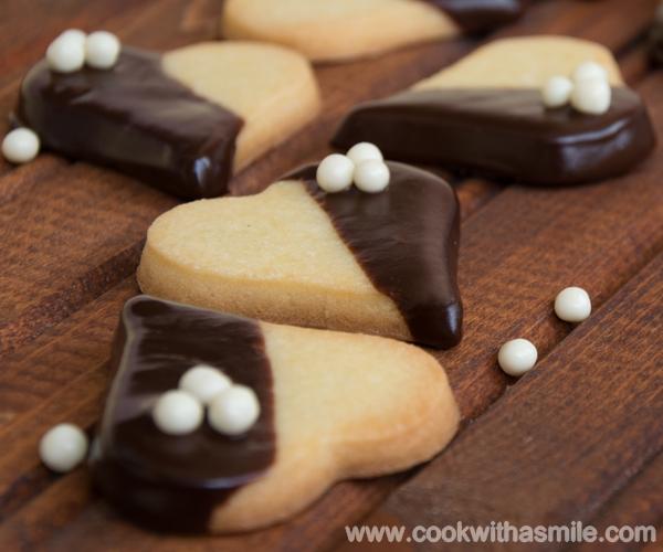 маслени бисквити с шоколад основно маслено тесто