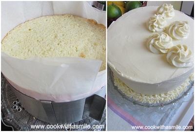 бяла малинова торта с малинов мус