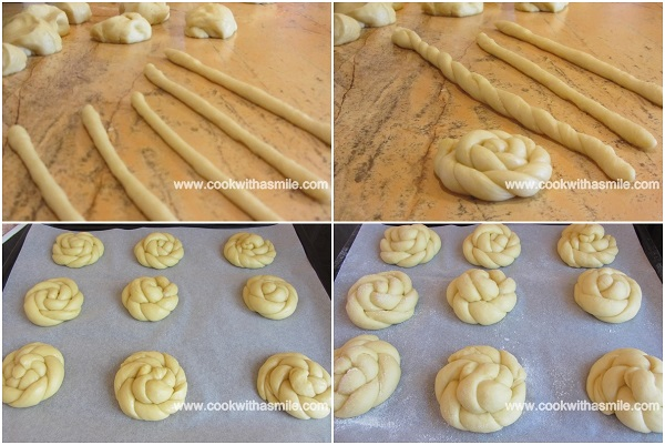 оформяне на козуначени розички рецепти с козуначено тесто