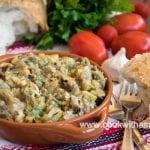 лятна салата с печен патладжан и тиквички на скара