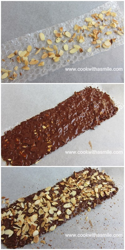 как се прави шоколадова украса за медена торта