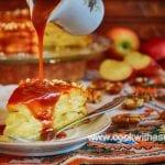 ябълкова торта с карамелен сос торта печени ябълки