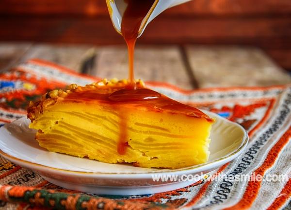 лесна ябълкова торта с карамелен сос рецепта
