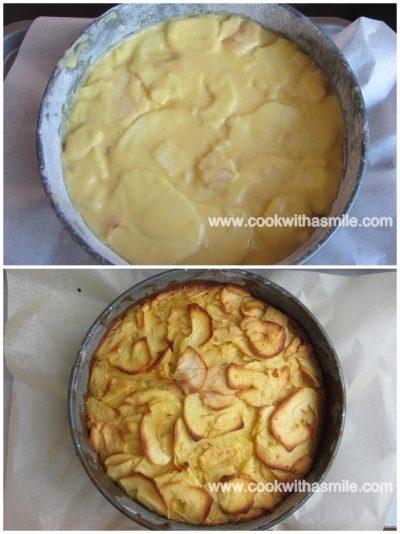 ябълкова торта с карамелен сос ябълков сладкиш