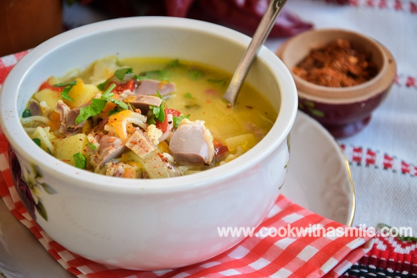 супа с пилешки воденички и фиде рецепта