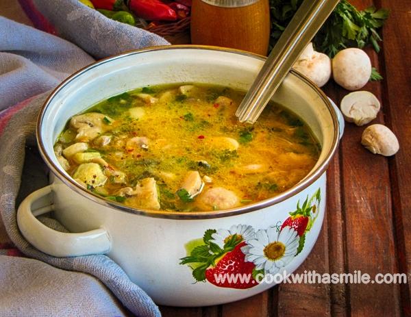 Лесна рецепта за гъбена супа