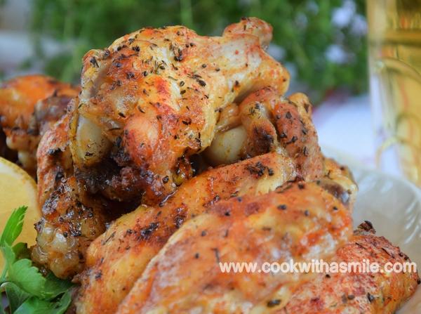 рецепта за пилешки крилца на фурна с бира