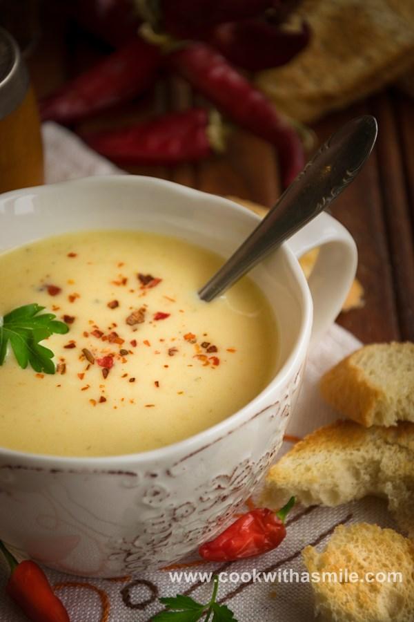 картофена крем супа с праз моркови и сметана рецепта