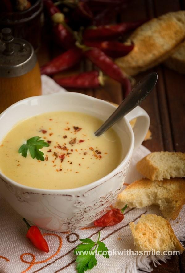 картофена крем супа с праз рецепта