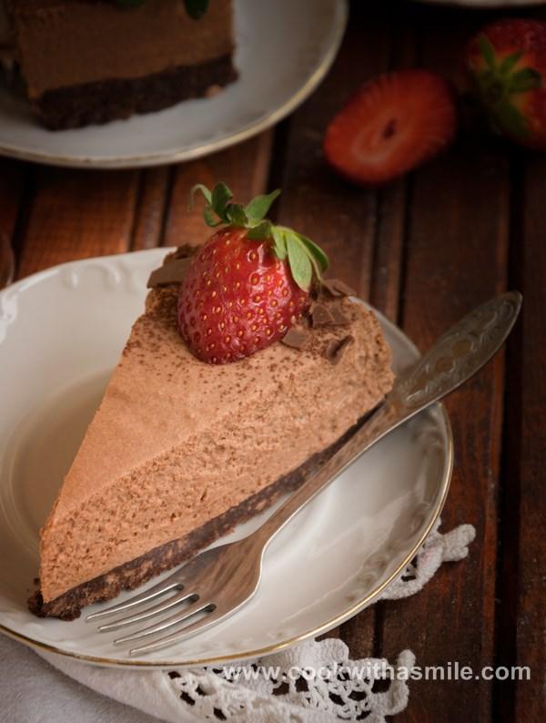 рецепта за шоколадова мус торта