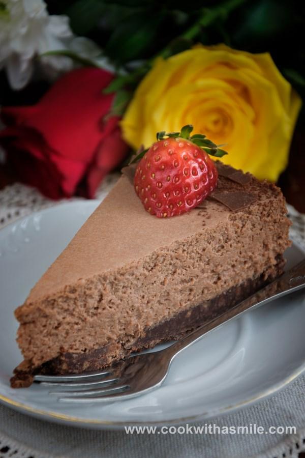шоколадова мус торта с кафе и бейлис рецепта