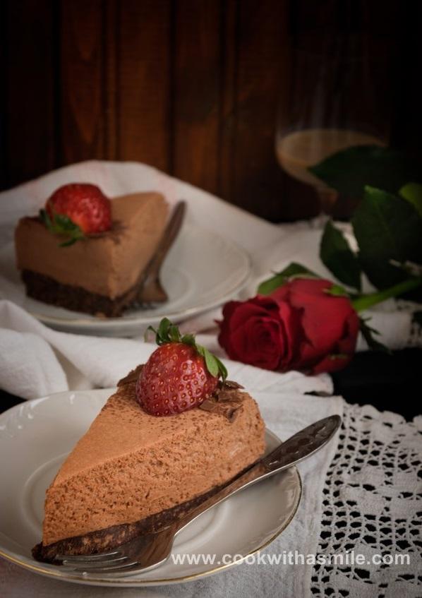 рецепта за шоколадова мус торта шоколадов чийзкейк