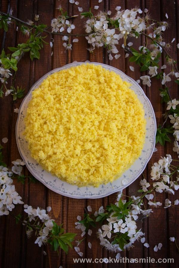лесна торта Мимоза рецепта стъпка по стъпка