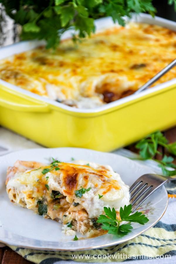 рецепта за пълнени палачинки с пиле