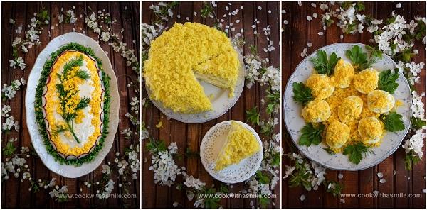 салата торта яйца Мимоза