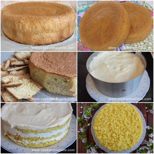 как се прави торта мимоза стъпка по стъпка